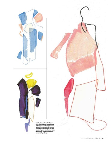 Page 35 of slow fashion in all its forms FEATURE Fall in love with Lara Mackenzie Lee's abstract fashion illustrations