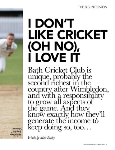 Page 55 of HOWZAT! How Bath Cricket Club is building itself a