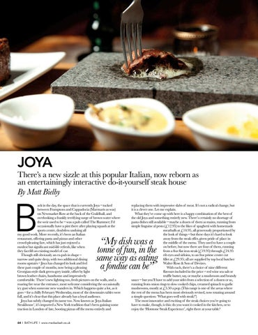 Page 64 of RESTAURANT Do-it-yourself fun at Joya