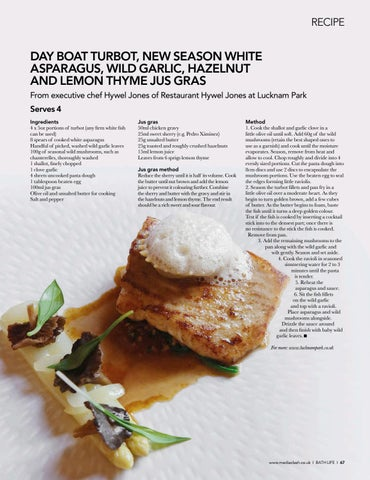Page 67 of RECIPE A fi shy dish from Lucknam's Hywel Jones