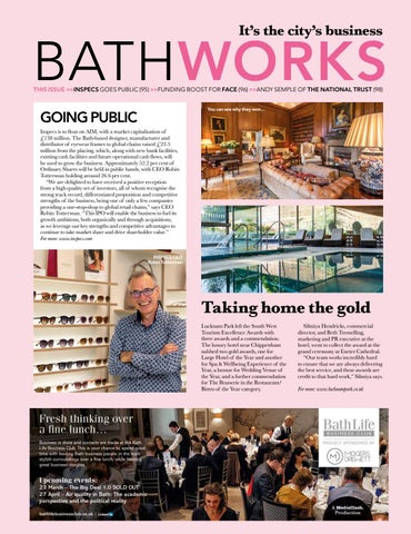 Page 95 of BATHWORKS Local businessess making the headlines, including an audience with the National Trust