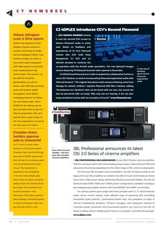 Page 12 of Cinema Tech Community's regular quarterly update
