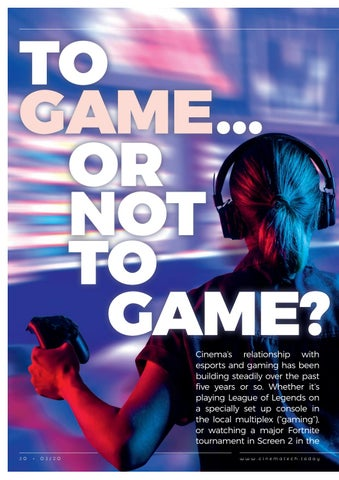 Page 30 of Why gaming in cinemas is a real technical challenge