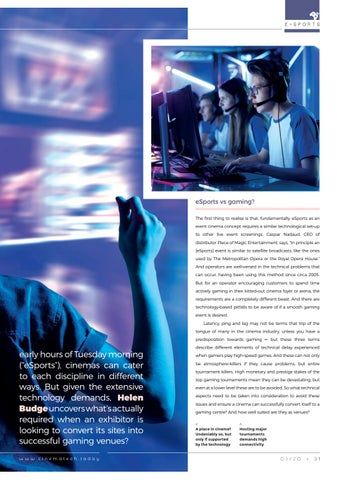 Page 31 of Why gaming in cinemas is a real technical challenge