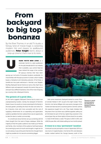 Page 64 of Backyard Cinema: the popup with a passion for detail