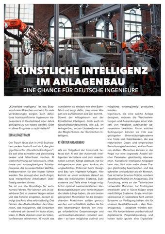 Page 18 of KÜNSTLICHE INTELLIGENZ IM ANLAGENBAU
