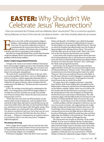 Page 21 of Easter: Why Shouldn't We Celebrate Jesus' Resurrection?