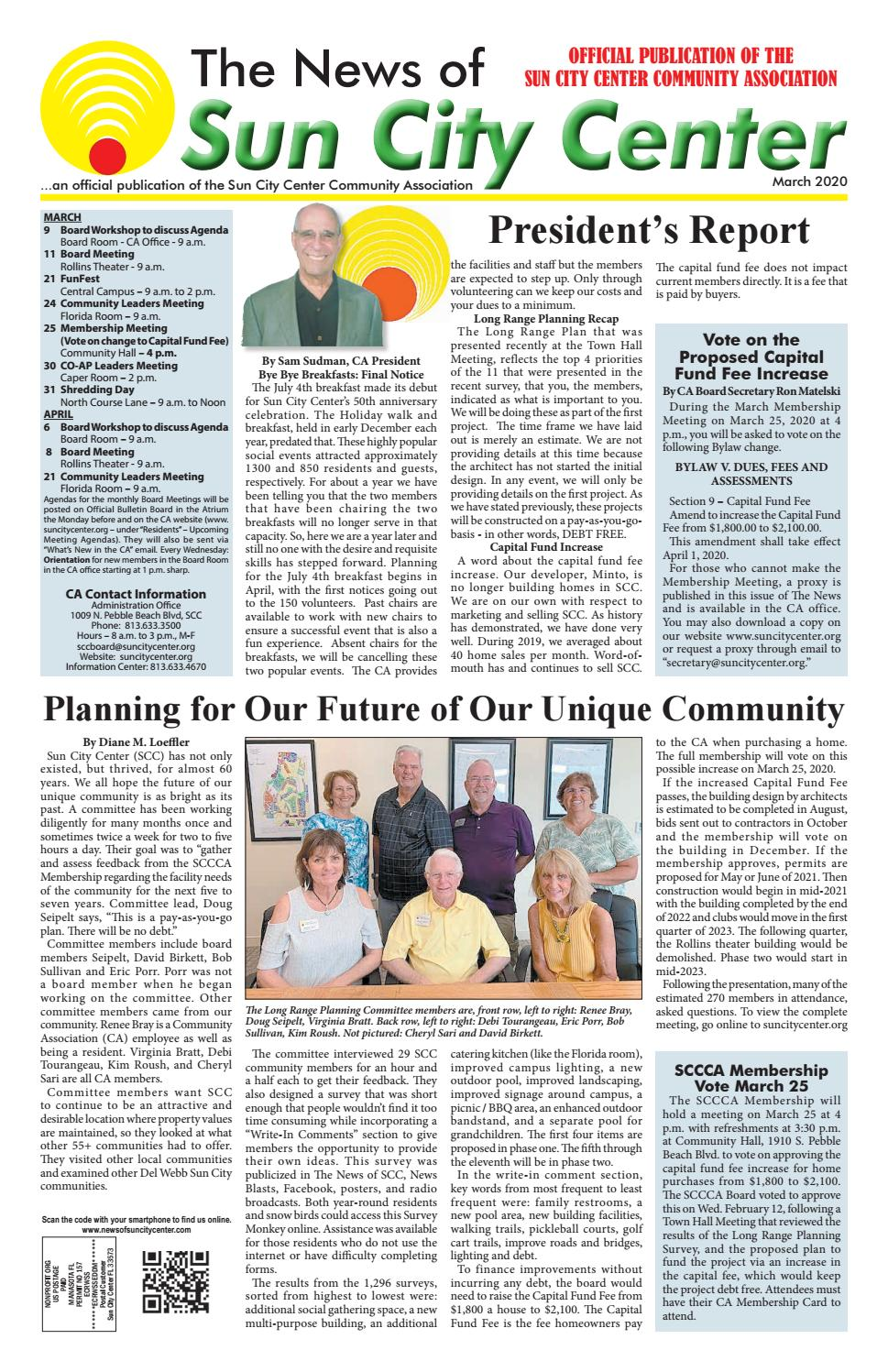News Of Sun City Center March 2020 By The News Of Sun City Center