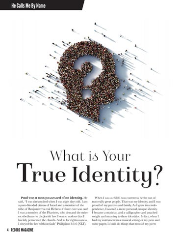 Page 4 of What is Your True Identity?