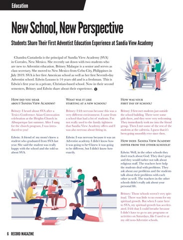 Page 6 of Education: New School, New Perspective