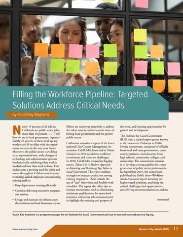 Page 17 of Filling the Workforce Pipeline: Targeted Solutions Address Critical Needs