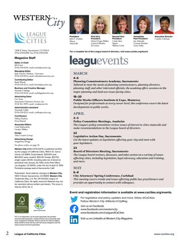 Page 4 of Calendar of League Events