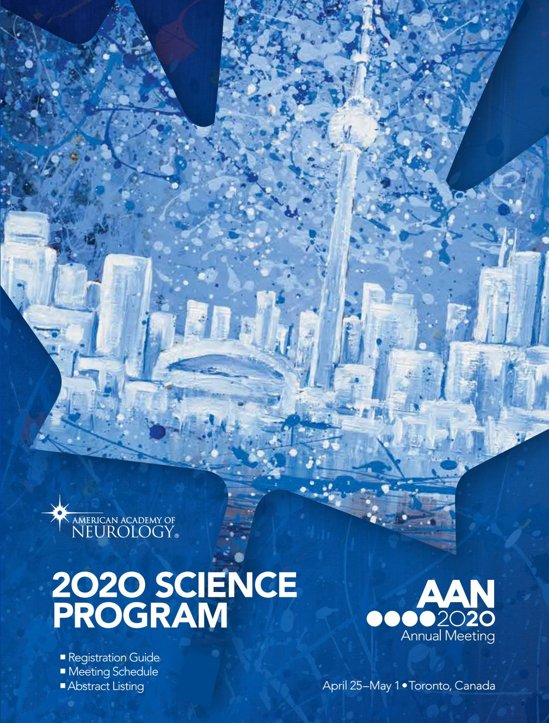 2020 Aan Annual Meeting Science Program By American Academy Of Neurology Issuu