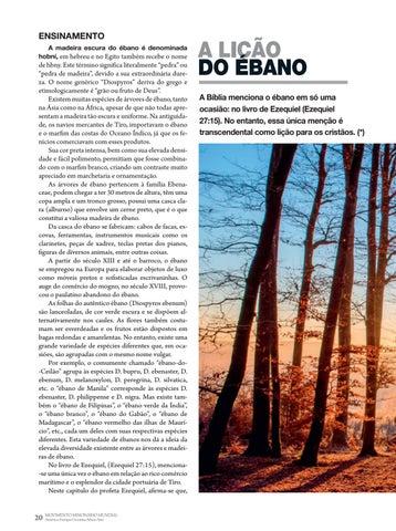 Page 20 of Ensinamento A LIÇÃO DO ÉBANO