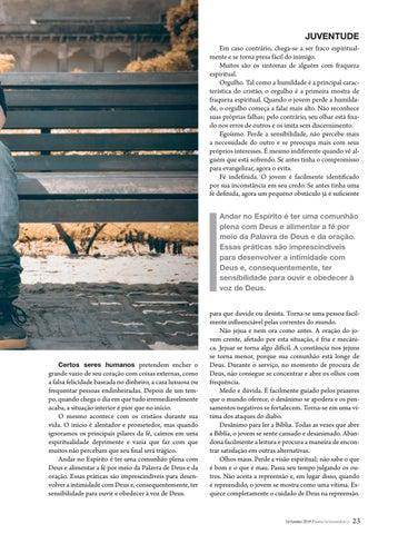 Page 23 of Juventude SINTOMAS DA FRAQUEZA