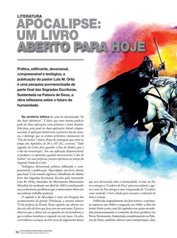 Page 26 of Literatura APOCALIPSE, UM LIVRO ABERTO