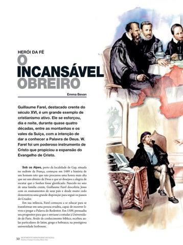 Page 30 of Herói da fé O INCANSÁVEL OBREIRO