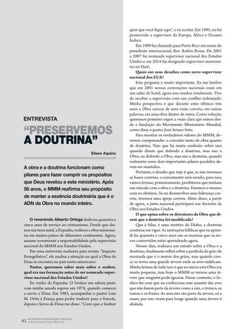 """Page 42 of Entrevista """"PRESERVEMOS A DOUTRINA"""