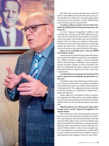 """Page 43 of Entrevista """"PRESERVEMOS A DOUTRINA"""