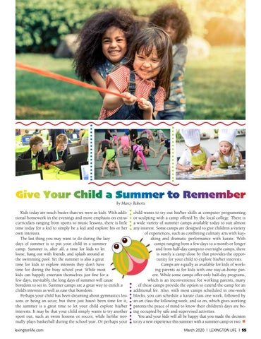 Page 55 of Give Your Child a Summer to Remember-Summer Camps