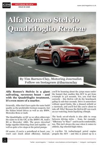 Page 26 of Motoring Review Alfa Romeo Stelvio