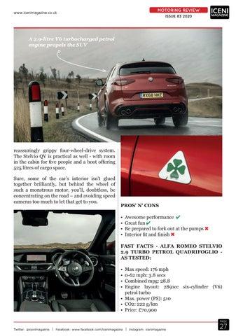 Page 27 of Motoring Review Alfa Romeo Stelvio