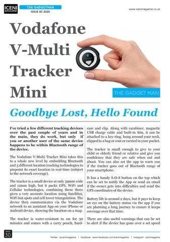 Page 30 of The Gadget Man Review Vodafone V-Multi Tracker Mini