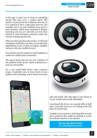 Page 31 of The Gadget Man Review Vodafone V-Multi Tracker Mini