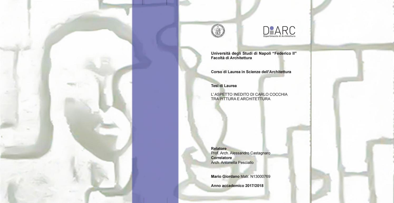 Tesi Triennale Architettura L Aspetto Inedito Di Carlo Cocchia Tra Pittura E Architettura By Mario Giordano Issuu