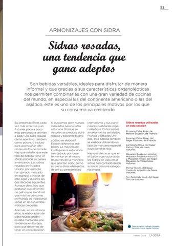 Page 23 of SIDRAS ROSADAS, UNA TENDENCIA QUE GANA ADEPTOS