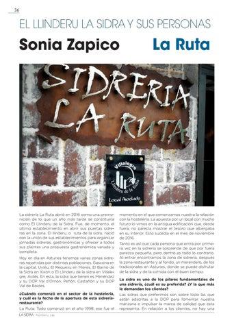 Page 36 of EL LLINDERU LA SIDRA. SONIA ZAPICO. SIDRERÍA LA RUTA