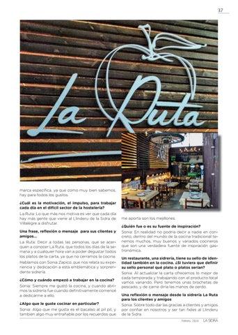 Page 37 of EL LLINDERU LA SIDRA. SONIA ZAPICO. SIDRERÍA LA RUTA