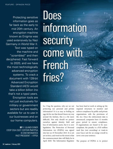 Page 50 of Does information security come with French fries?