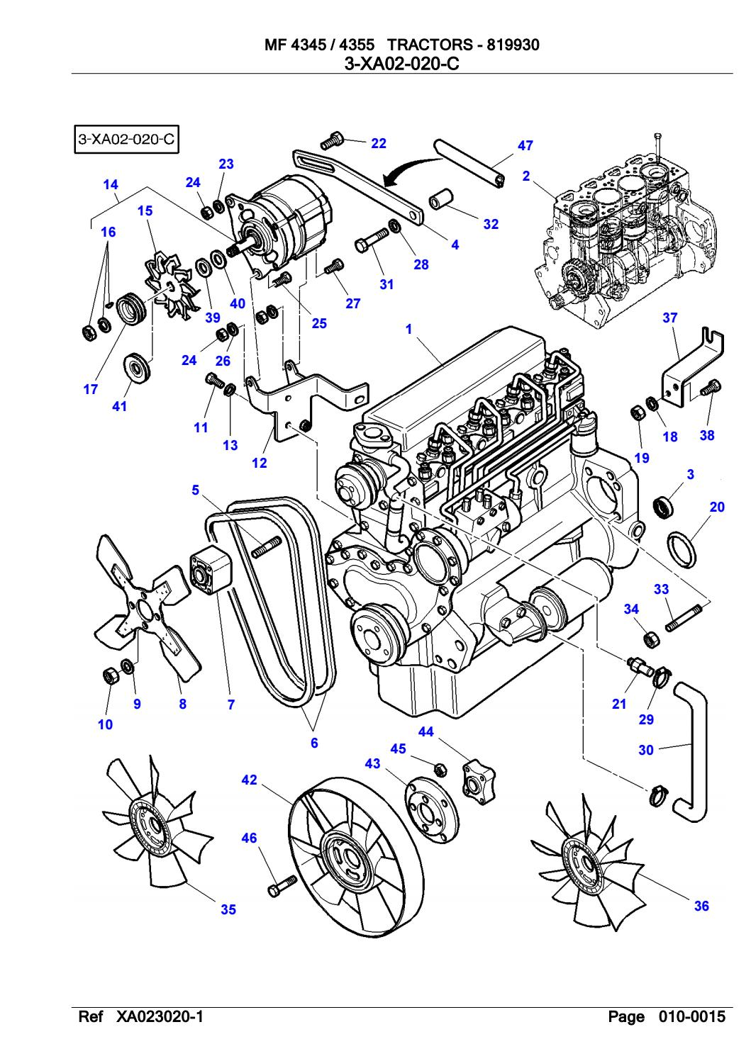 massey ferguson 4355 tractor service parts catalogue manual (part number  819930) by shaopan79482182 - issuu  issuu