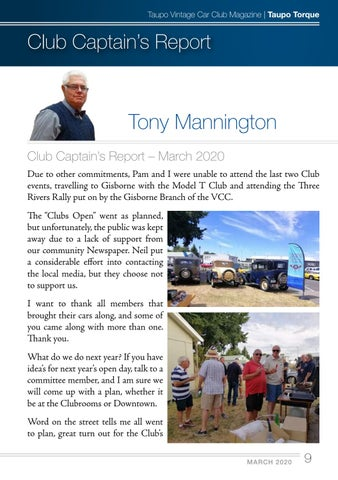 Page 9 of Club Captain's Report