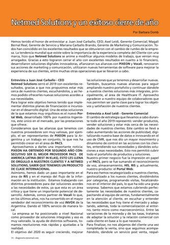 Page 14 of Netmed Solutions y un exitoso cierre de año