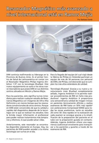 Page 20 of Resonador Magnético más avanzado a nivel internacional está en Ramos Mejía