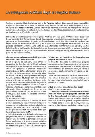 Page 8 of La Inteligencia Artificial llegó al Hospital Italiano