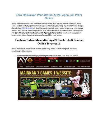 Cara Melakukan Pendaftaran Ayo99 Agen Judi Poker Online By Ratnasulaini Issuu
