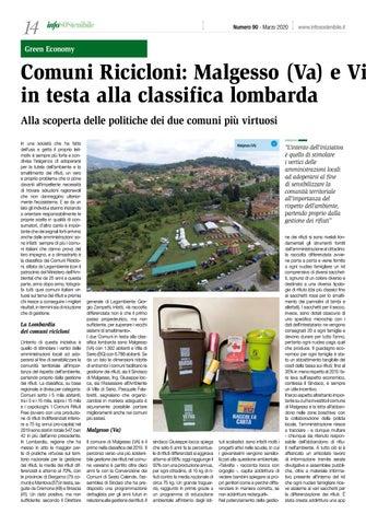 Page 14 of Comuni Ricicloni: Malgesso (Va) e Villa di Serio (Bg) in testa alla classifica lombarda