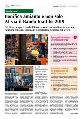 Page 16 of Bonifica amianto e non solo. Al via il Bando Inail Isi 2019