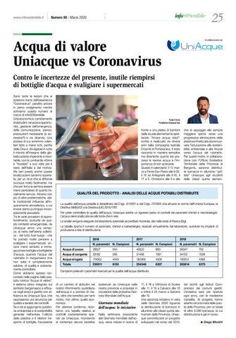 Page 25 of Acqua di valore. Uniacque vs Coronavirus
