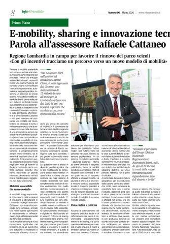 Page 8 of E-mobility, sharing e innovazione tecnologica. Parola all'assessore Raffaele Cattaneo
