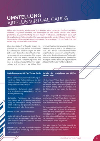Page 21 of AirPlus: Starke Kundenauthentifi zierung