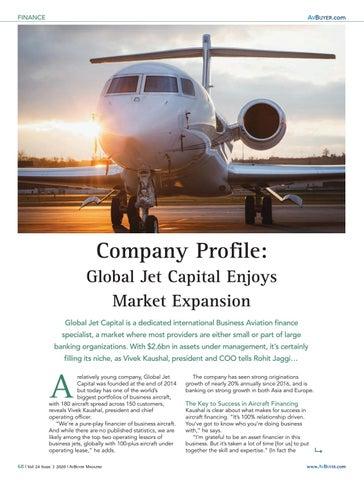 Page 68 of Company Profile: Global Jet Capital Enjoys Market Expansion