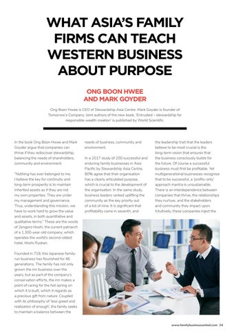 Page 29 of WHAT ASIA'S FAMILY FIRMS CAN TEACH WESTERN BUSINESS ABOUT PURPOSE