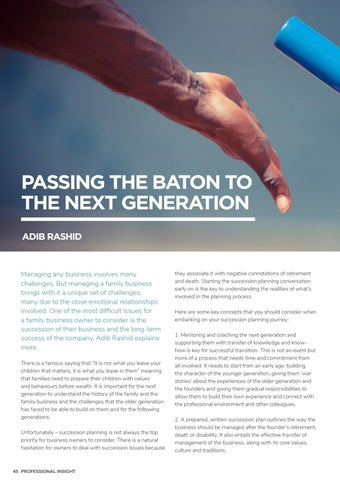 Page 50 of PASSING THE BATON TO THE NEXT GENERATION