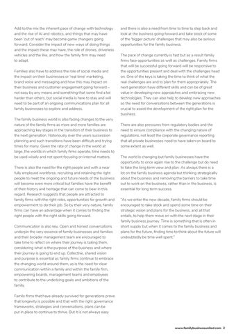 Page 7 of THE CHANGING FAMILY BUSINESS WORLD
