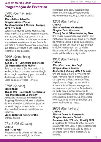 Page 13 of Sesc em Marabá