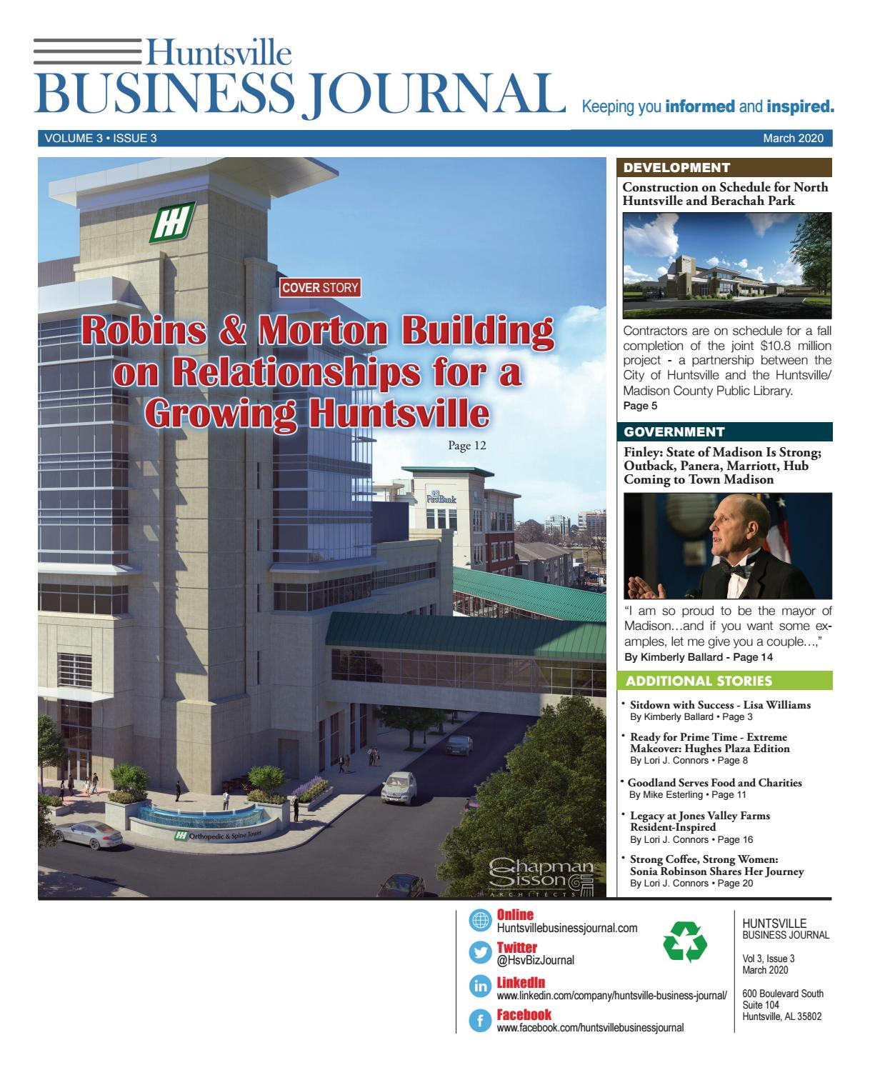 Are Huntsville Al Post Office 35802 Open Christmas Eve 2020 HBJ March 2020 Issue by EVENT Magazine   issuu